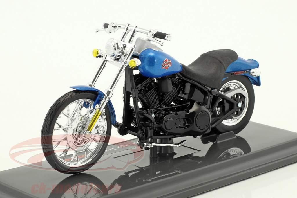 Harley-Davidson FXSTB Night Train anno di costruzione 2002 blu / nero 1:18 Maisto