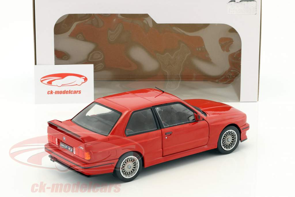 BMW M3 E30 year 1990 red 1:18 Solido