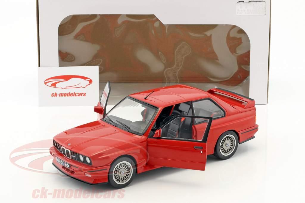 BMW M3 E30 Baujahr 1990 rot 1:18 Solido