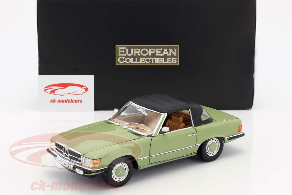 Mercedes-Benz 350 SL convertibile Closed Top anno di costruzione 1977 verde 1:18 SunStar