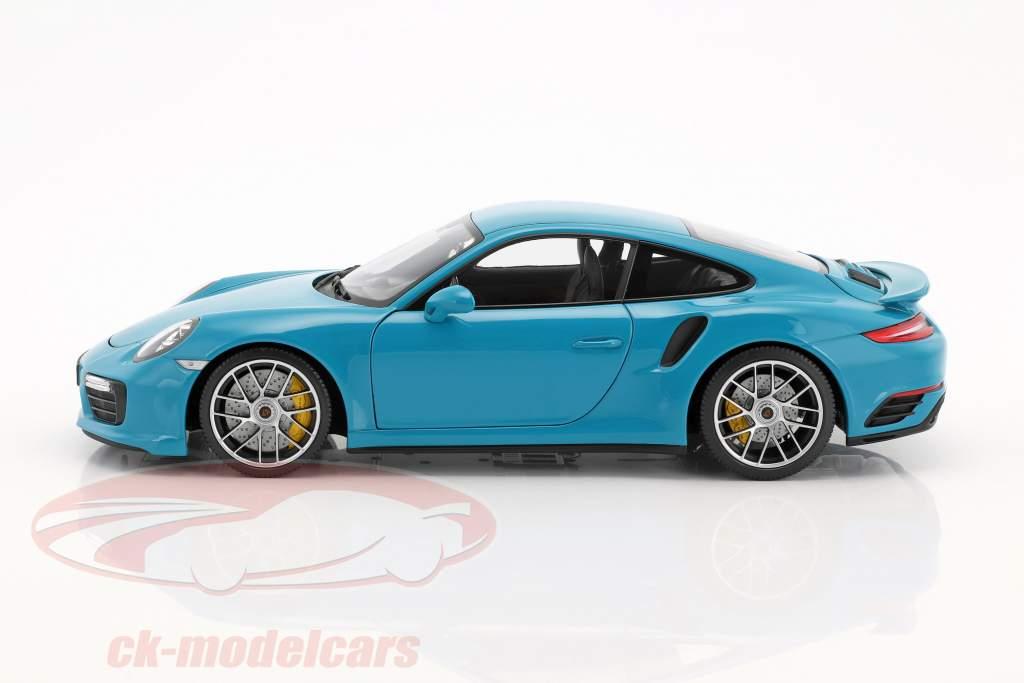 Porsche 911 (991 II) Turbo S année de construction 2016 miami bleu 1:18 Minichamps