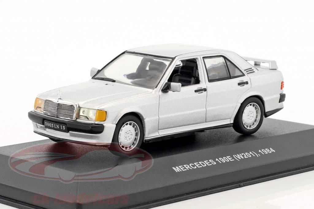 Mercedes-Benz 190E (W201) année de construction 1984 argent métallique 1:43 Solido