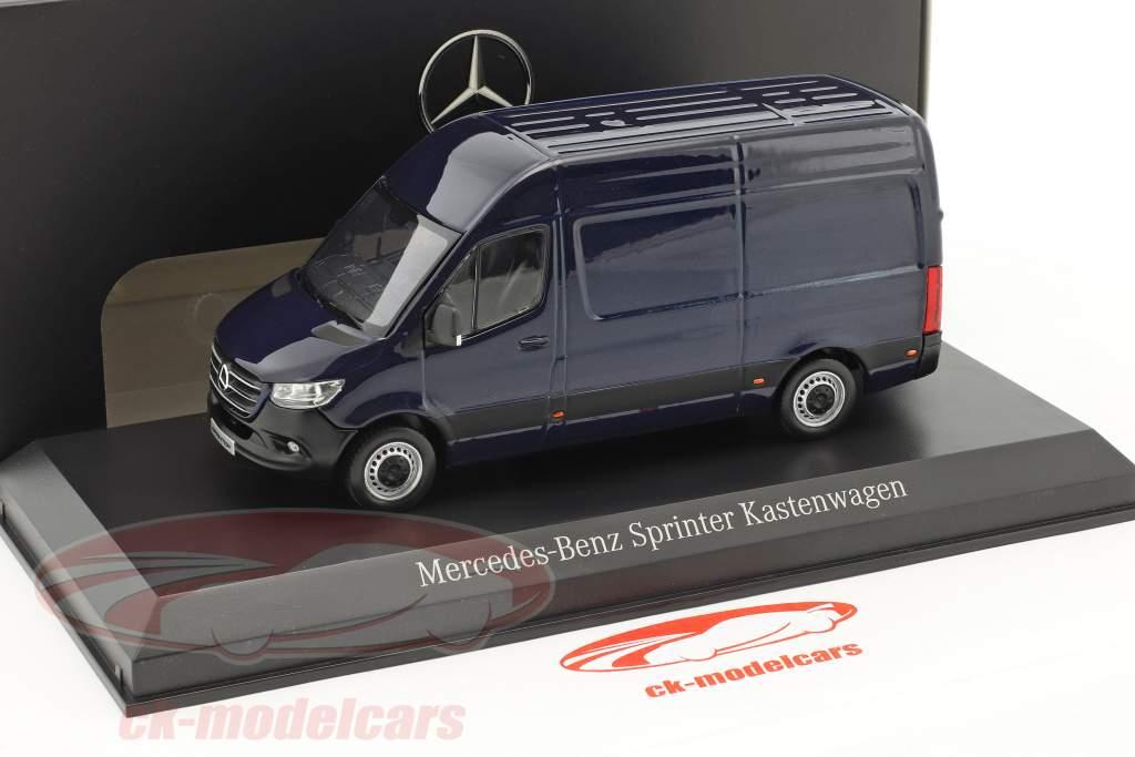 Mercedes-Benz sprinter panel van cavansite blå metallisk 1:43 Norev