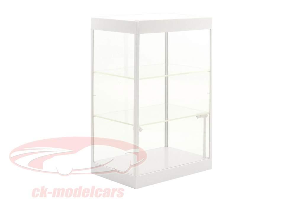 Enkelt skab med 2 mobil LED lamper til modelbiler i skala 1:18,1:24,1:43 hvid Triple9