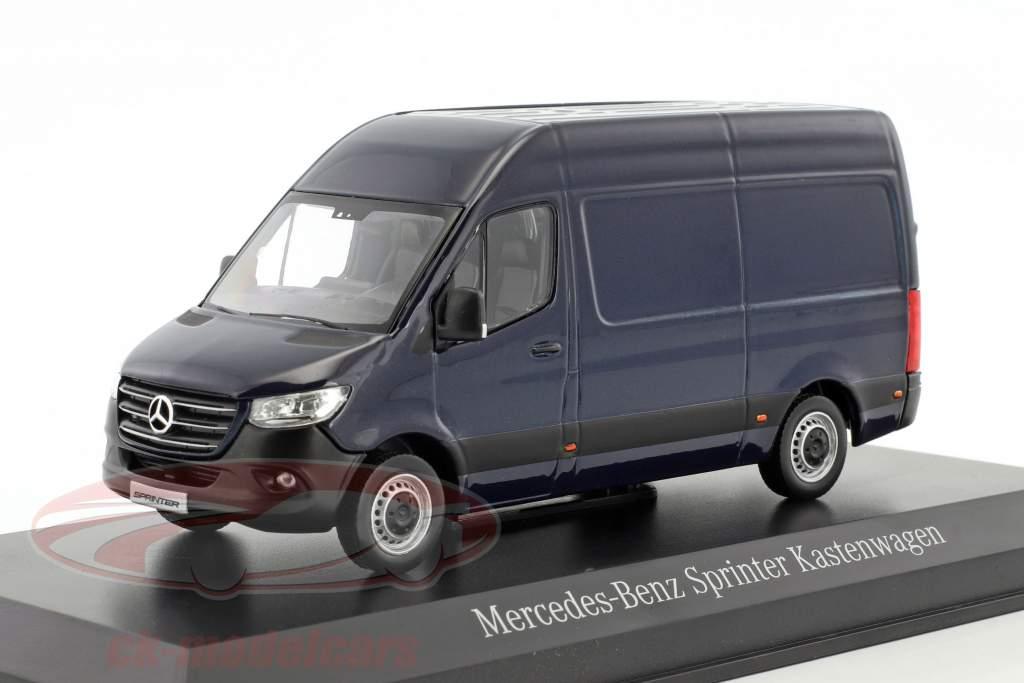 Mercedes-Benz velocista pannello furgone cavansite blu metallico 1:43 Norev