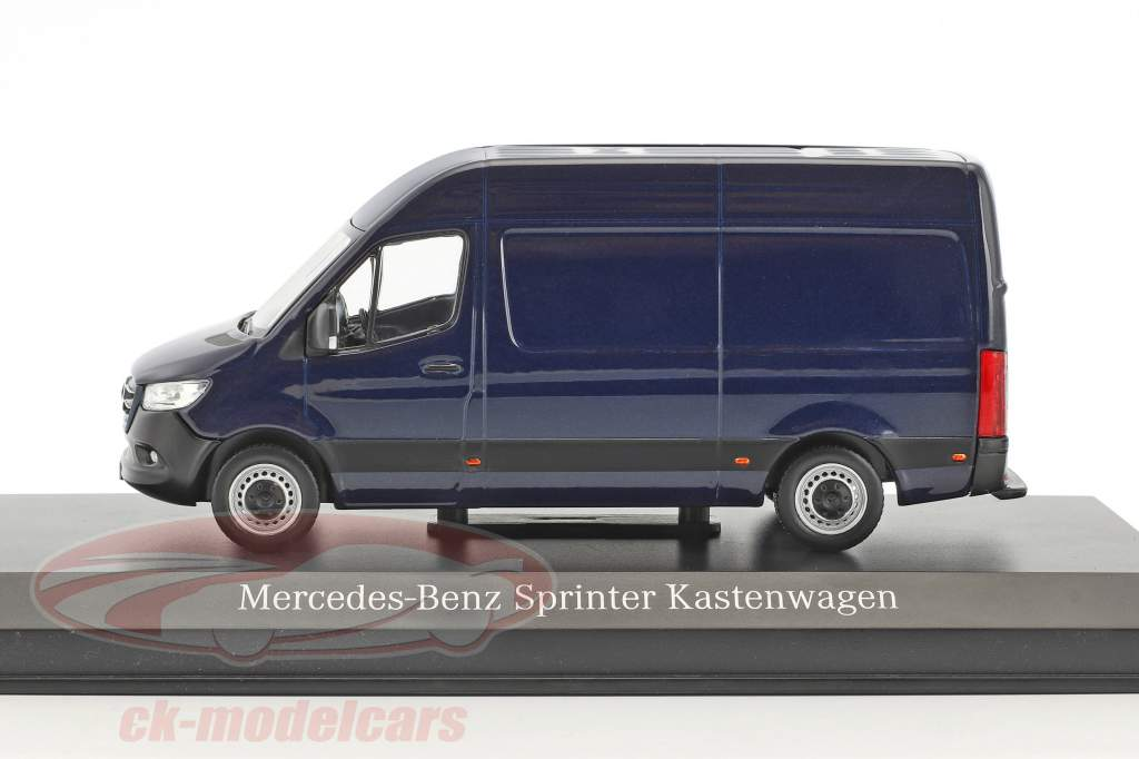 Mercedes-Benz velocista panel furgoneta cavansite azul metálico 1:43 Norev