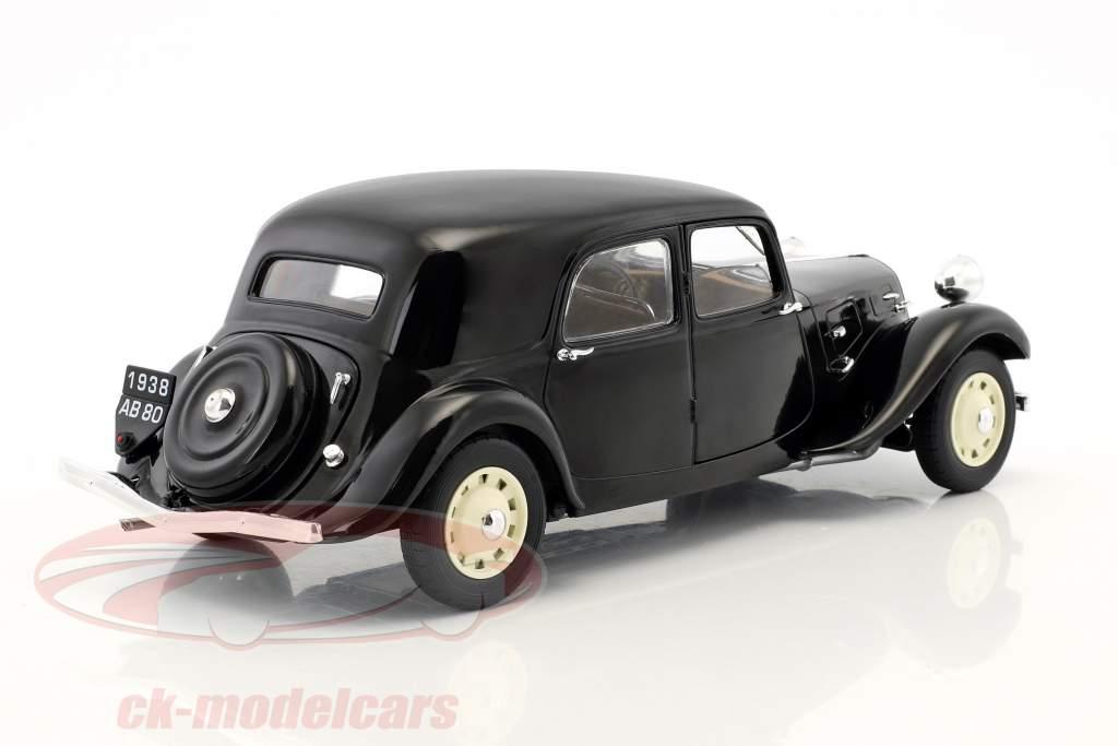 Citroen Traction 11CV Opførselsår 1937 sort 1:18 Solido