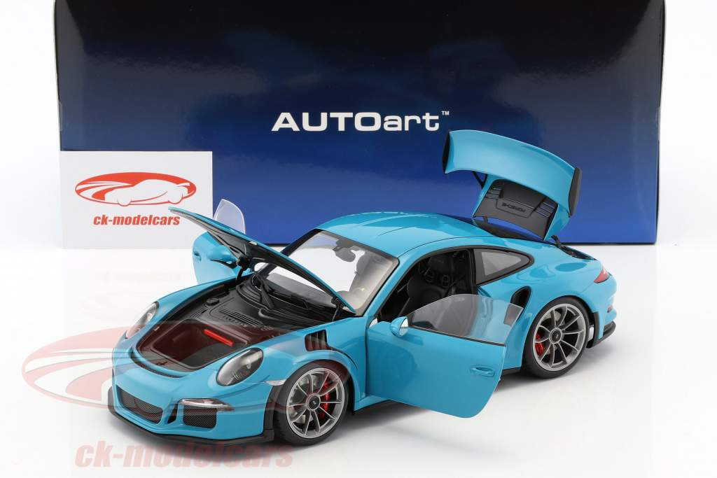 Porsche 911 (991) GT3 RS année de construction 2016 Miami bleu avec sombre gris roues 1:18 AUTOart