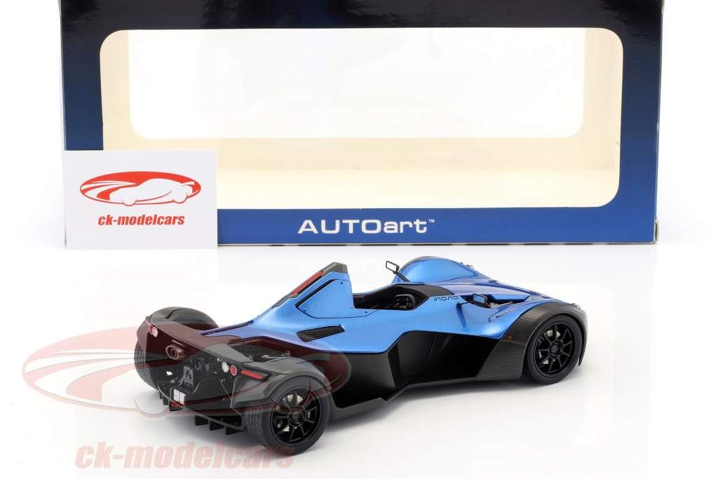 BAC Mono year 2011 blue metallic / black 1:18 AUTOart