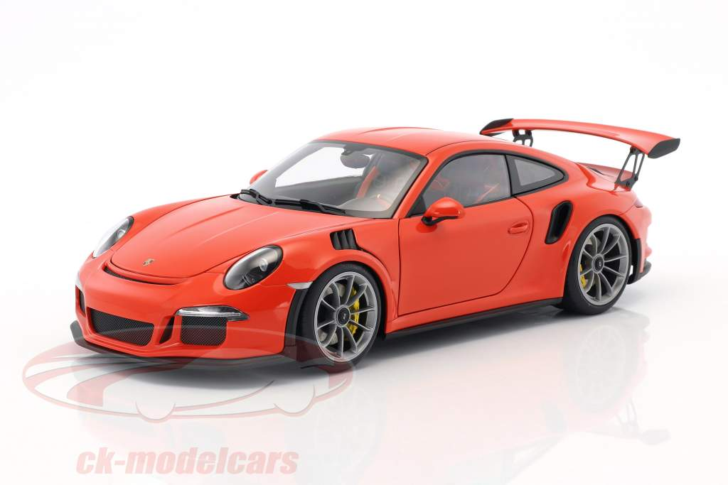 Porsche 911 (991) GT3 RS year 2016 lava orange with dark gray wheels 1:18 AUTOart