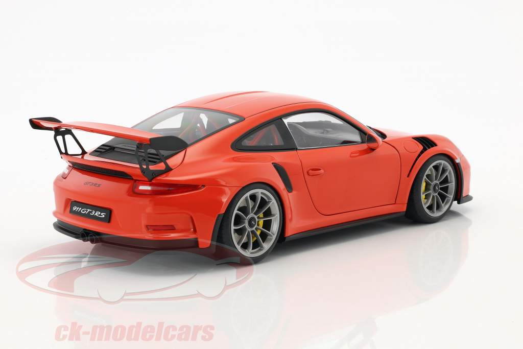 Porsche 911 (991) GT3 RS anno di costruzione 2016 lava arancione con scuro grigio ruote 1:18 AUTOart