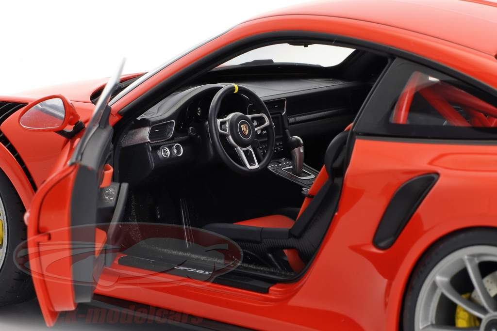 Porsche 911 (991) GT3 RS année de construction 2016 lave orange avec sombre gris roues 1:18 AUTOart