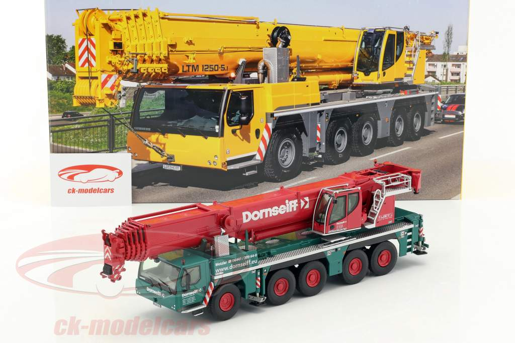 Liebherr LTM 1250-5.1 gru mobile Dornseiff verde / rosso 1:50 NZG