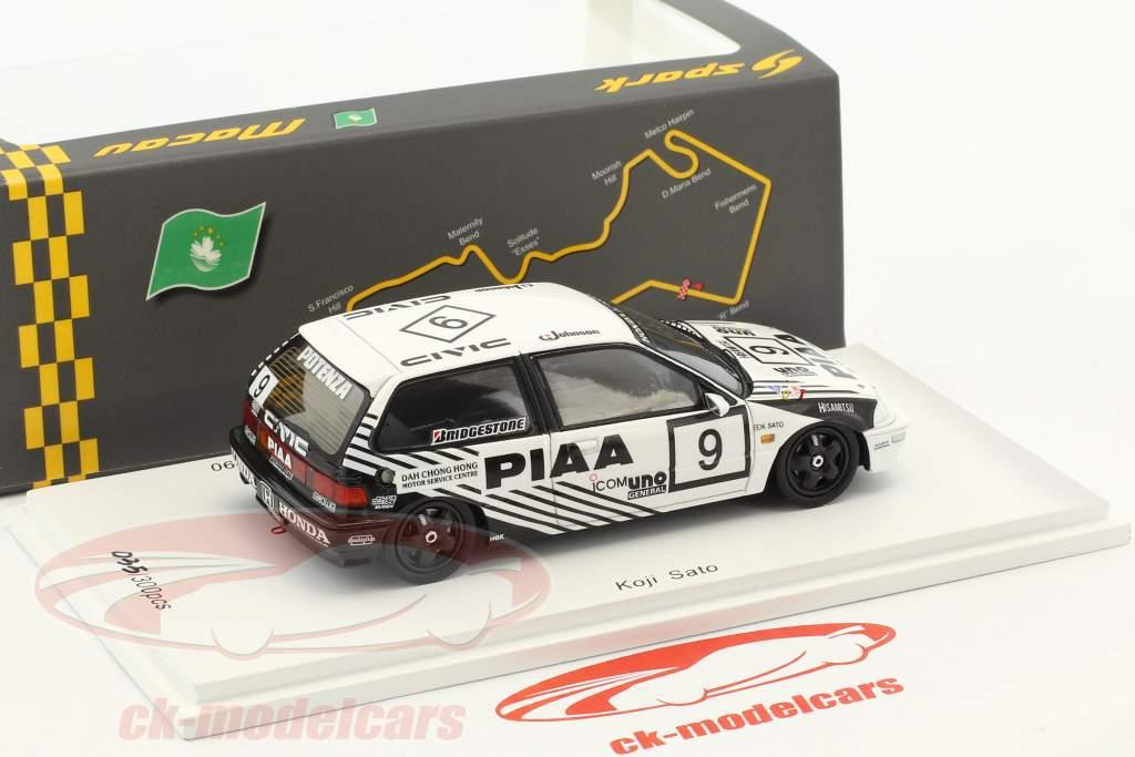 Honda Civic EF9 #9 2 Grp 3 Macau Guia Race 1990 Koji Sato 1:43 Spark