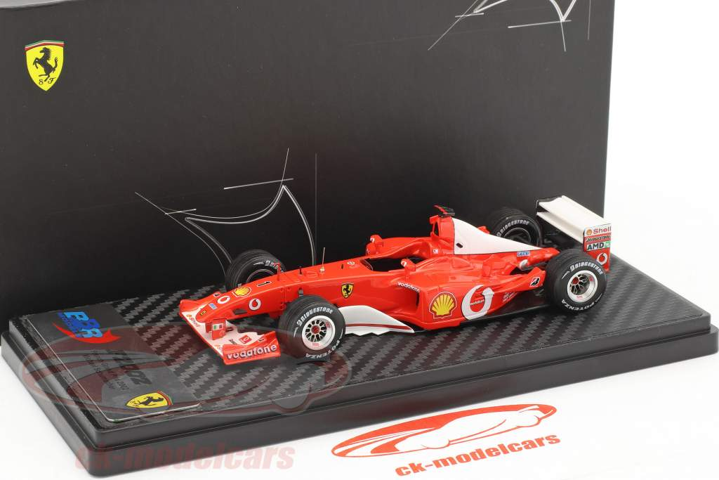 Michael Schumacher Ferrari F2002 gagnant français GP champion du monde formule 1 2002 1:43 BBR