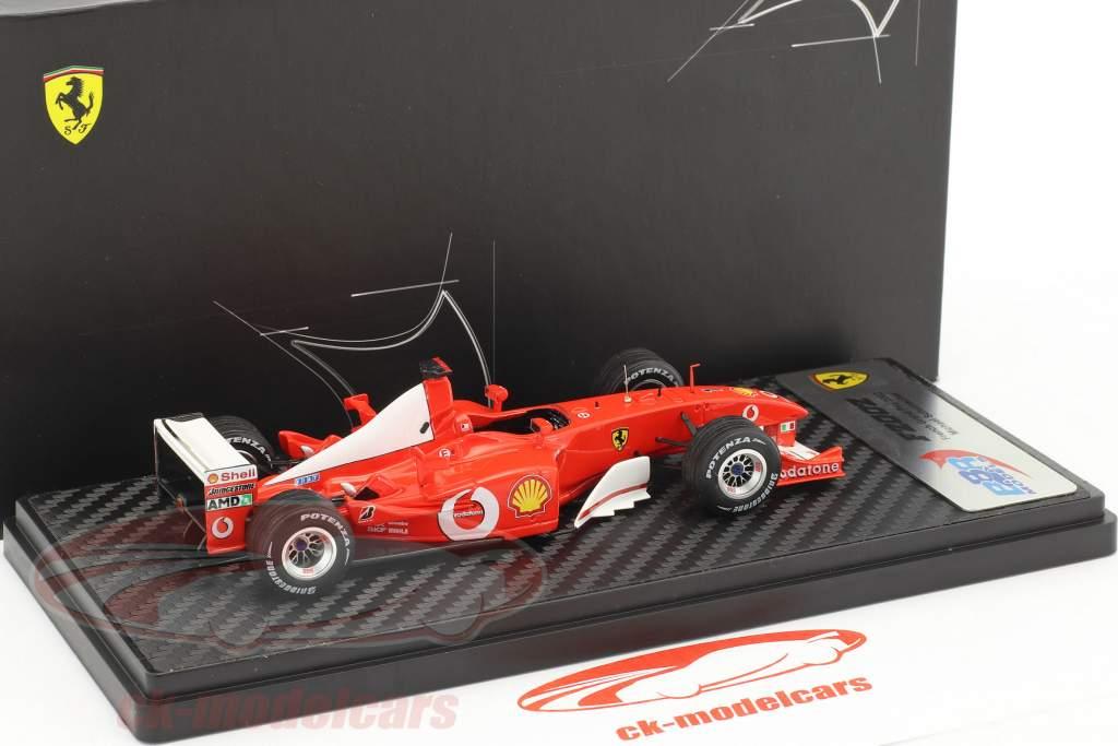 Michael Schumacher Ferrari F2002 vincitore francese GP campione del mondo formula 1 2002 1:43 BBR