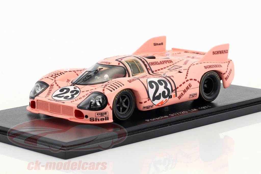 Porsche 917/20 Pink Pig #23 24h LeMans 1971 Kauhsen, Joest 1:43 Spark