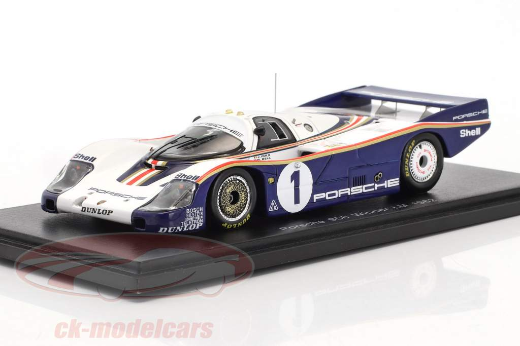 Porsche 956 #1 gagnant 24h LeMans 1982 Ickx, Bell 1:43 Spark