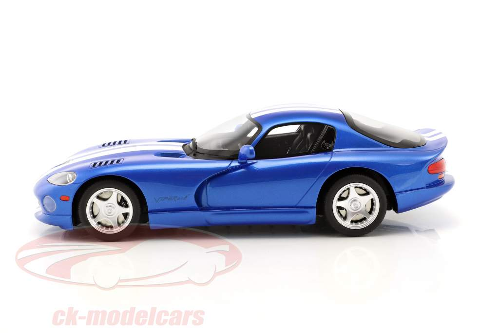 Dodge Viper GTS year 1996 viper blue 1:18 GT-Spirit