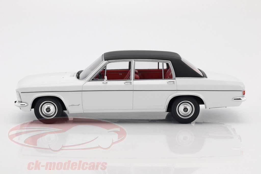 Opel Admiral B Baujahr 1971 weiß / schwarz 1:18 BoS-Models