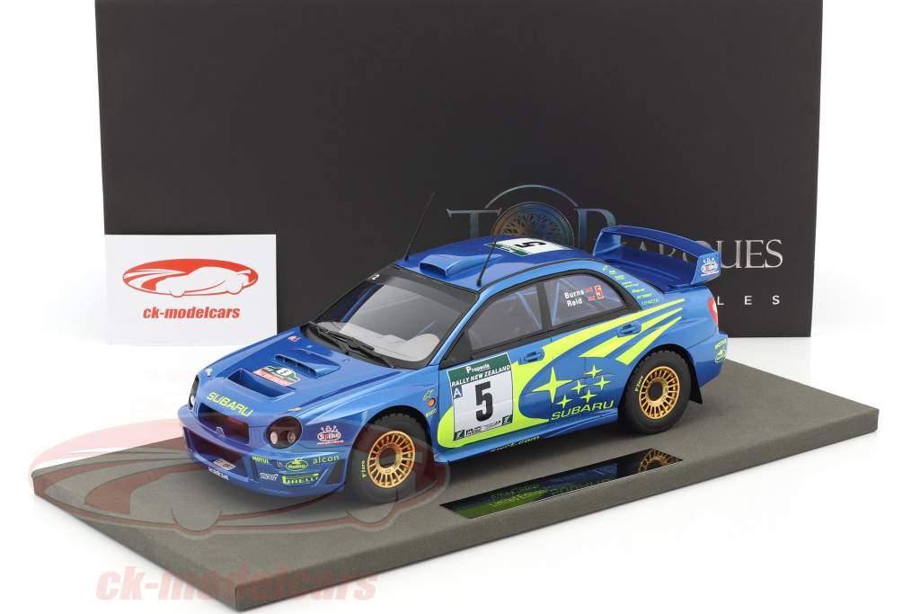 Subaru Impreza S7 WRC #5 vincitore Rallye neozelandese 2001 Burns, Reid 1:18 TopMarques