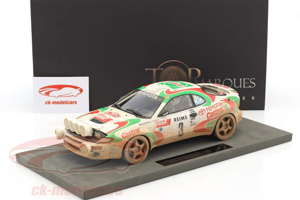 Toyota Celica GT4 Dirty Vision #3 Winner Rallye Monte Carlo 1993 Auriol, Occelli 1:18 TopMarques