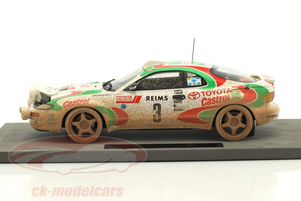 Toyota Celica GT4 Dirty Vision #3 vincitore Rallye Monte Carlo 1993 Auriol, Occelli 1:18 TopMarques