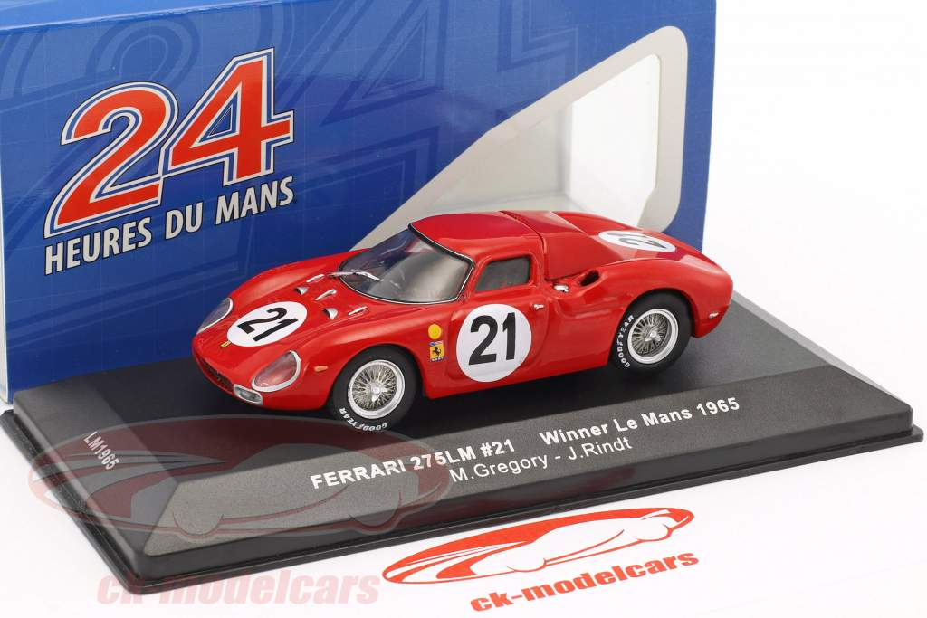 Ferrari 275 LM #21 Gregory, Rindt vencedor 24h LeMans 1965 1:43 Ixo