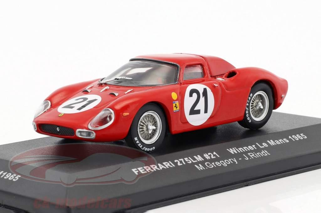 Ferrari 275 LM #21 Gregory, Rindt vincitore 24h LeMans 1965 1:43 Ixo