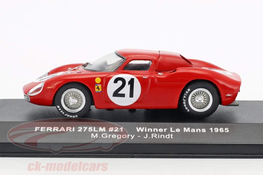 Ferrari 275 LM #21 Gregory, Rindt Winner 24h LeMans 1965 1:43 Ixo