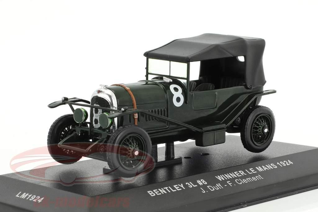 Bentley 3L #8 vencedor 24h LeMans 1924 Duff, Clement 1:43 Ixo