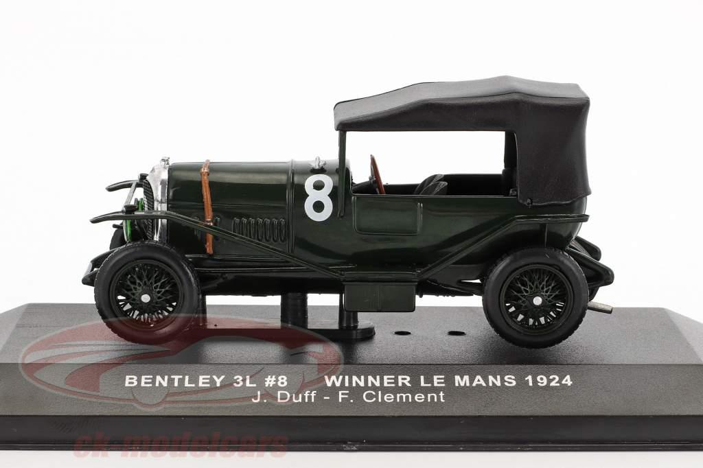 Bentley 3L #8 ganador 24h LeMans 1924 Duff, Clement 1:43 Ixo