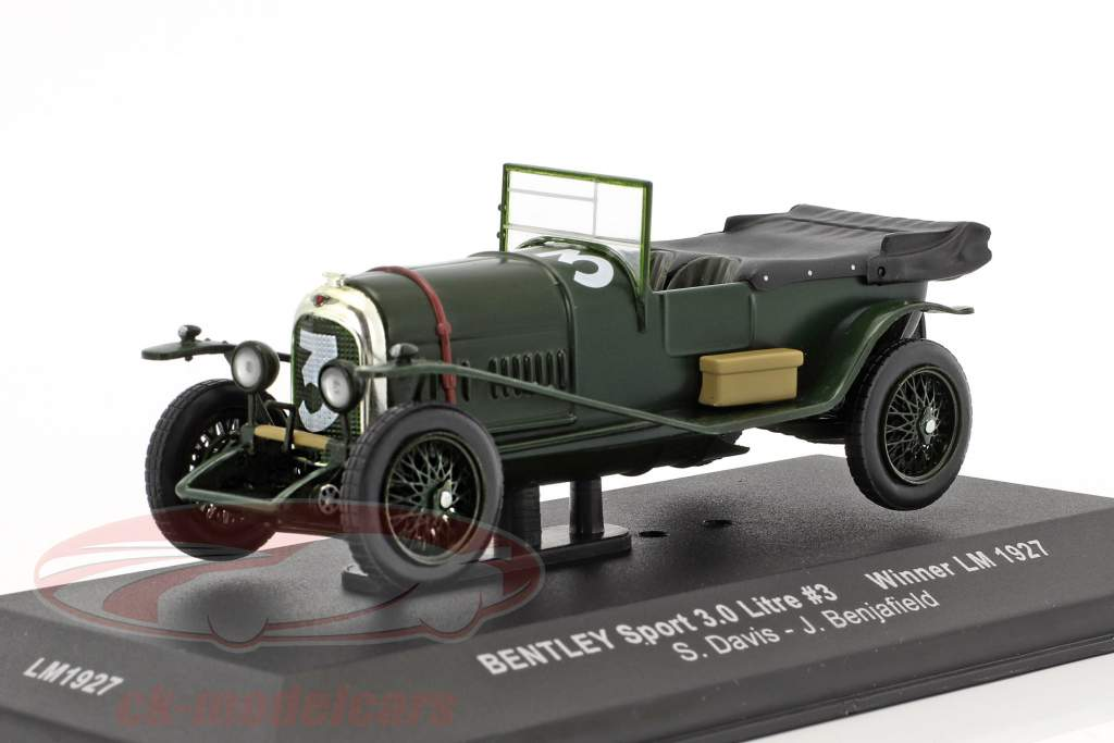 Bentley Sport 3.0 Litre #3 winnaar 24h LeMans 1927 Davis, Benjafield 1:43 Ixo