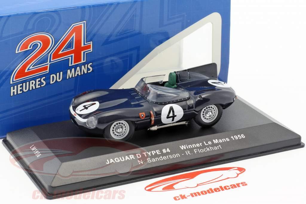 Jaguar D-Type #4 Winner 24h LeMans 1956 Sanderson, Flockhart 1:43 Ixo
