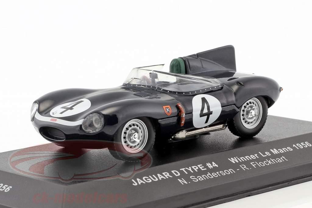 Jaguar D-Type #4 vincitore 24h LeMans 1956 Sanderson, Flockhart 1:43 Ixo