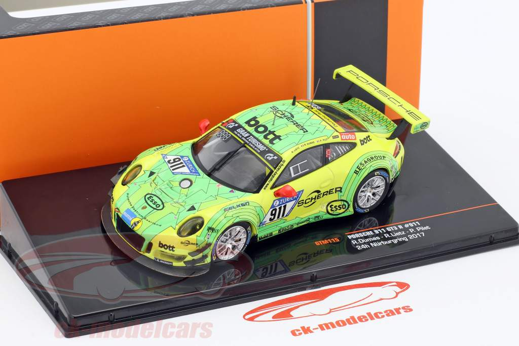 Porsche 911 GT3 R #911 Grello 24h Nürburgring 2017 Manthey Racing 1:43 Ixo