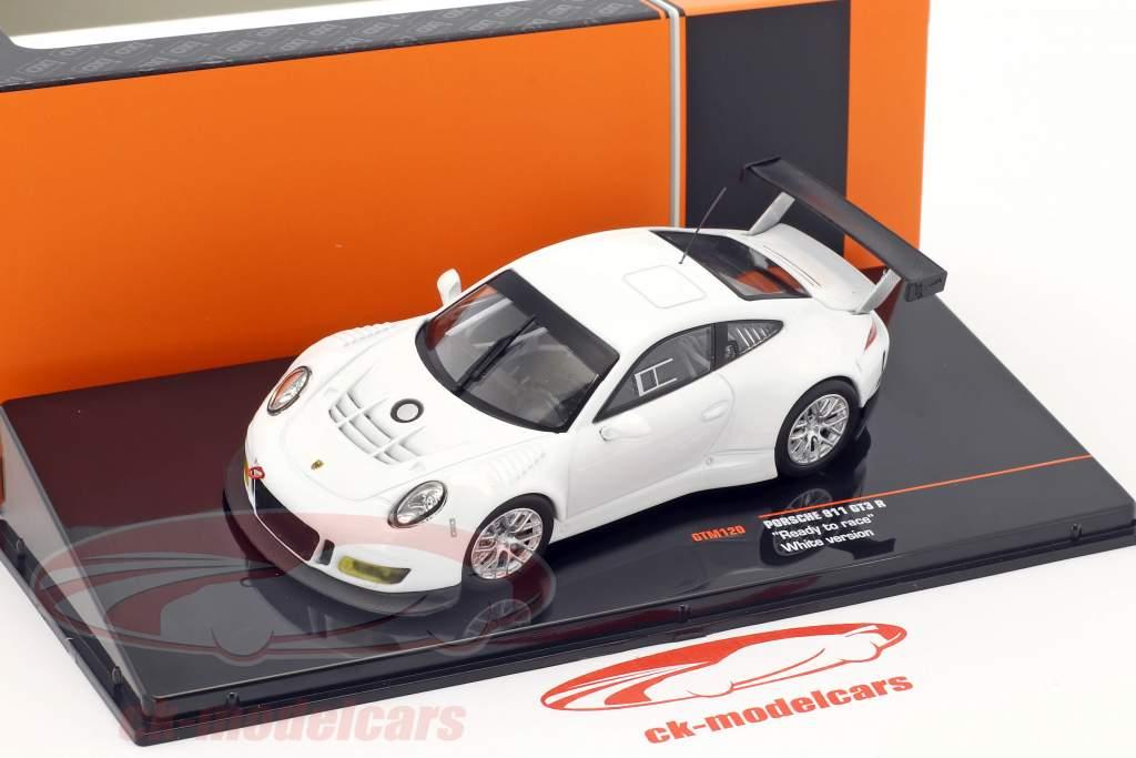 Porsche 911 GT3 R Ready to race blanc 1:43 Ixo