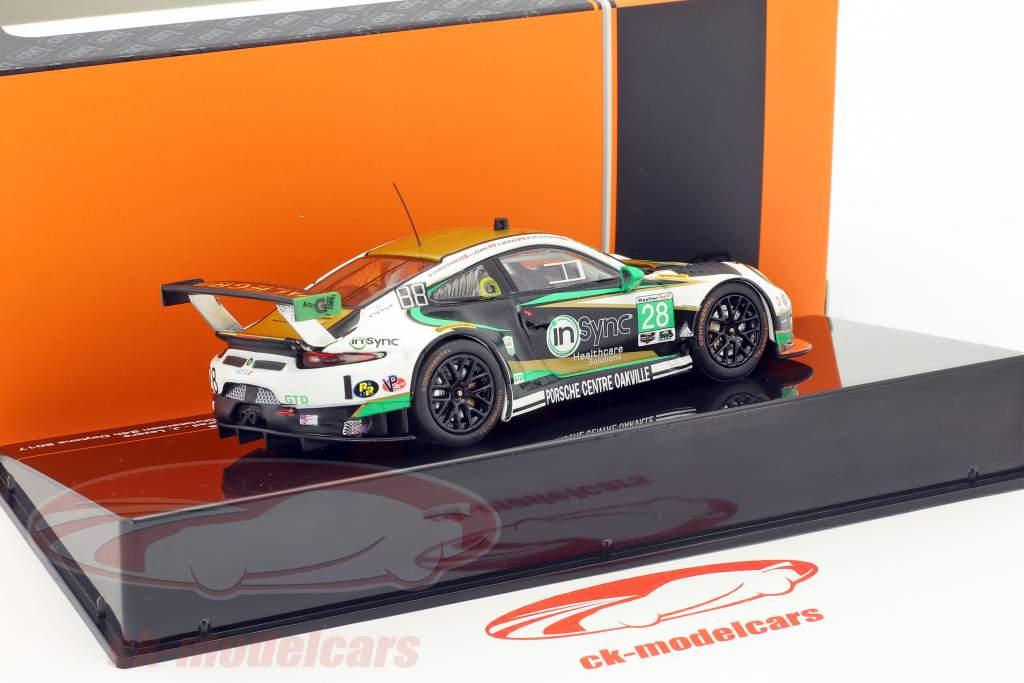Porsche 911 GT3 R #28 gagnant GTD classe 24h Daytona 2017 Alegra Motorsports 1:43 Ixo