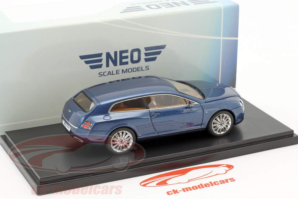 Bentley Continental Flying Star by Touring Baujahr 2010 blau metallic 1:43 Neo
