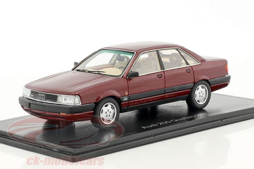 Audi 200 quattro 20V anno di costruzione 1990 scuro rosso metallico 1:43 Neo