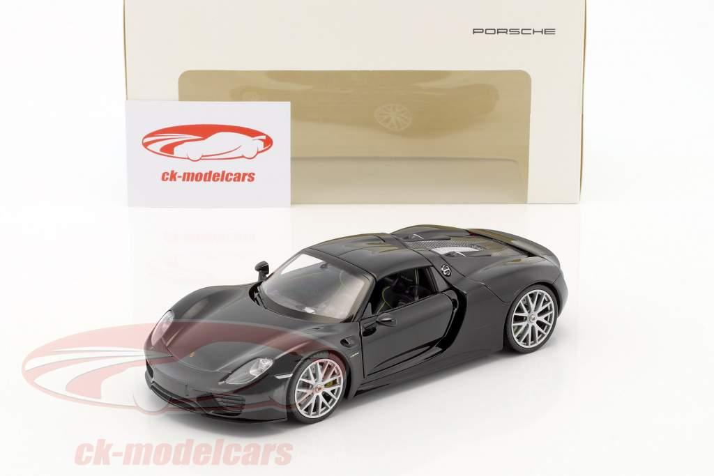 Porsche 918 Spyder basalt black 1:24 Welly
