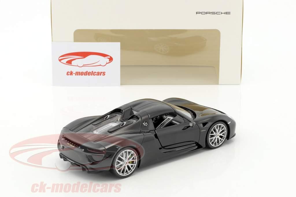 Porsche 918 Spyder basalte noir 1:24 Welly