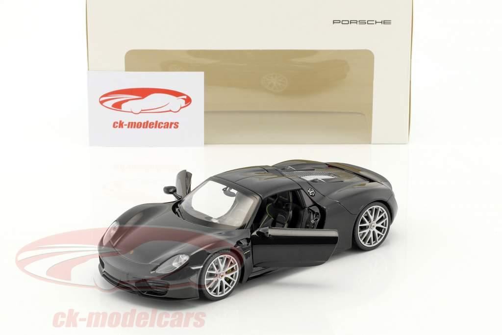 Porsche 918 Spyder basalto preto 1:24 Welly