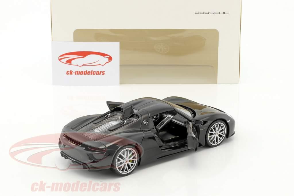 Porsche 918 Spyder basalto negro 1:24 Welly