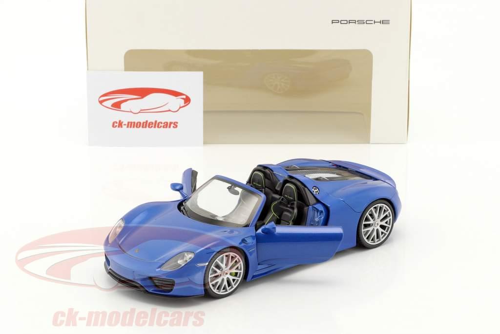 Porsche 918 Spyder saphir blau metallic 1:24 Welly