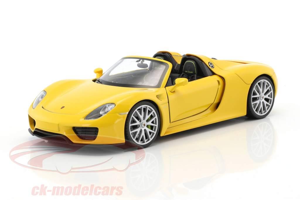 Porsche 918 Spyder racing yellow 1:24 Welly