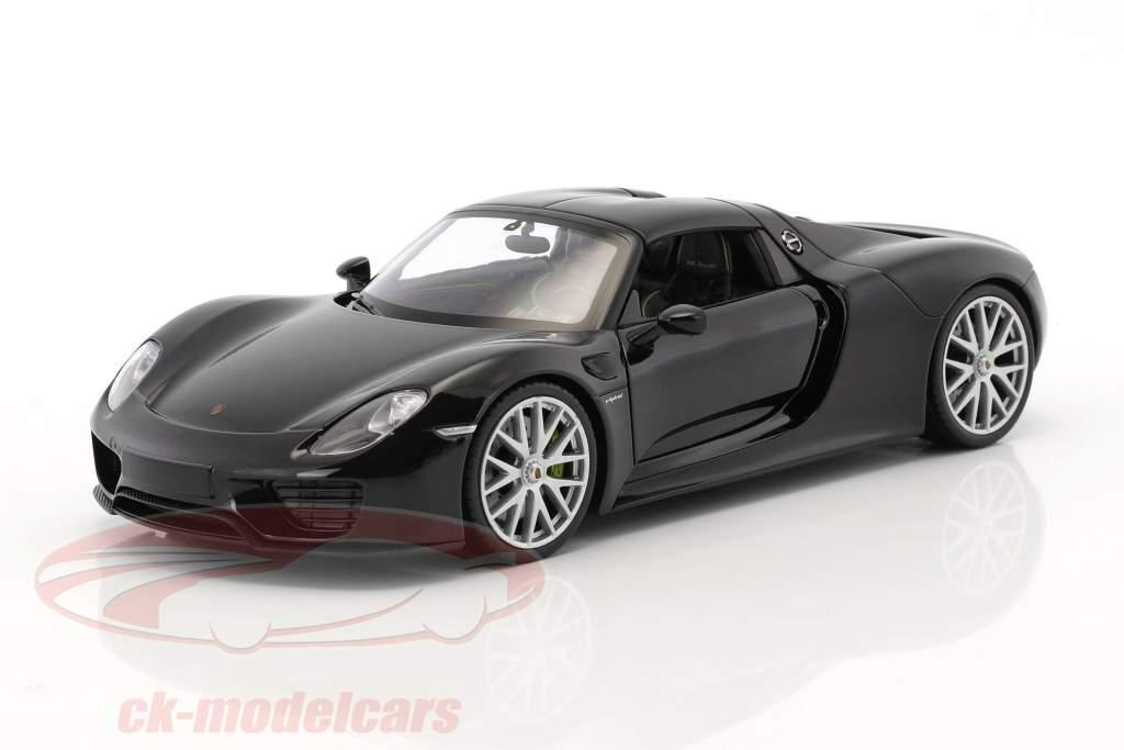 Porsche 918 Spyder bazalt zwart 1:24 Welly