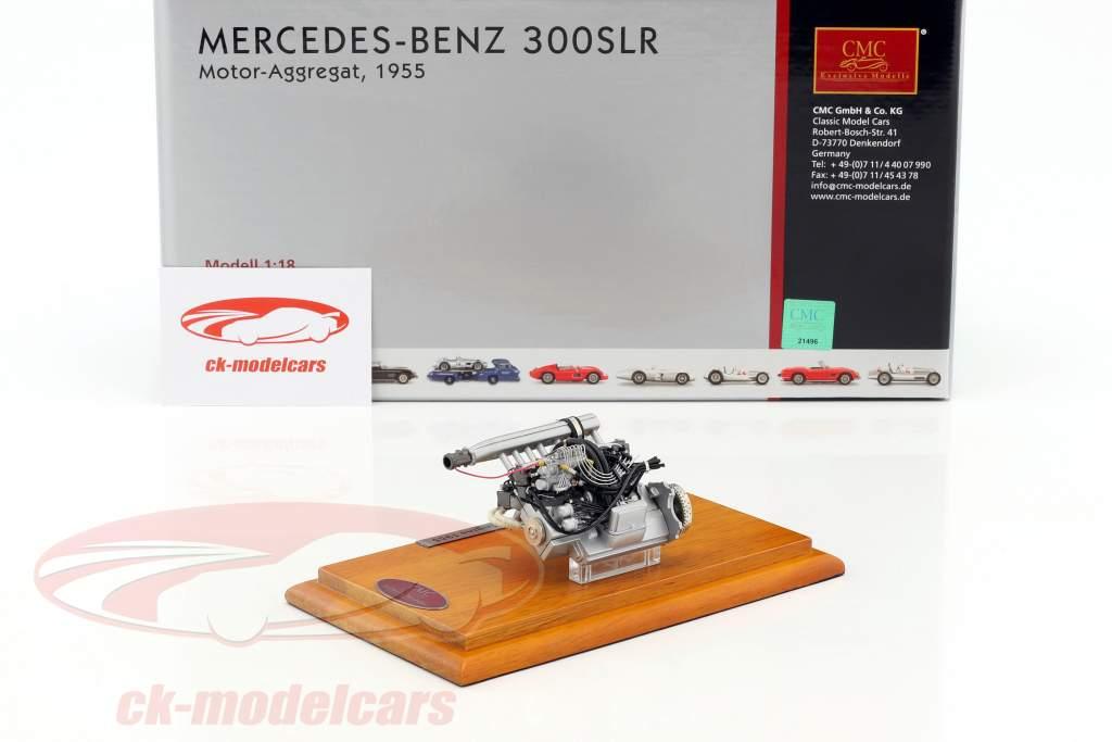 Mercedes Benz 300 SLR bloc moteur 1955 + Showcase 1:18 CMC