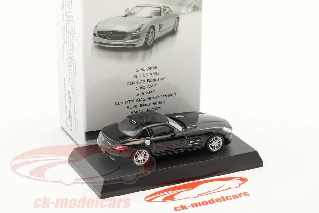 Mercedes-Benz SLS AMG nero 1:64 Kyosho