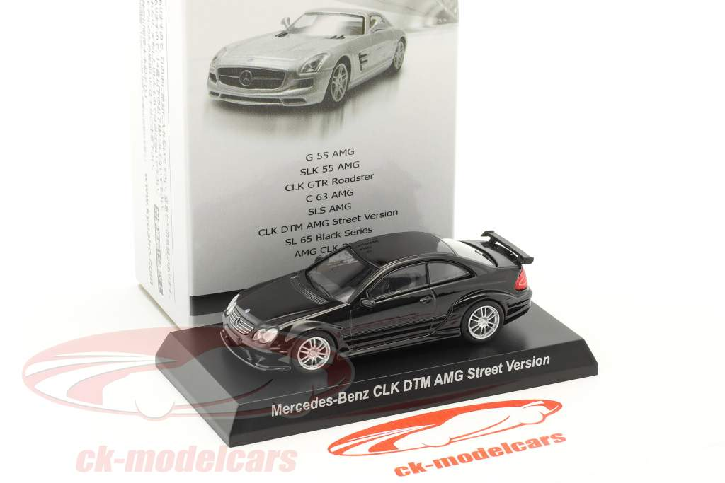 Mercedes-Benz CLK DTM AMG Street Version black 1:64 Kyosho